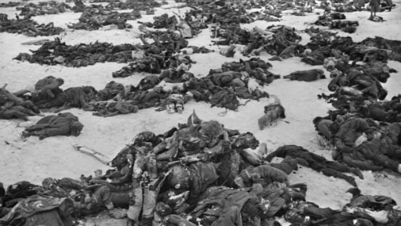 Поле боя с погибшими в битве за Ржев.