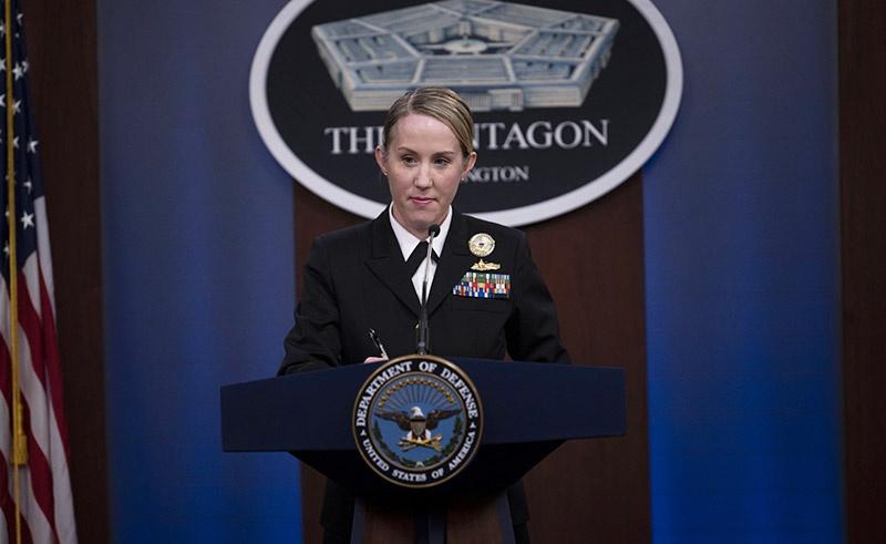 Представитель минобороны США Джессика Макналти.