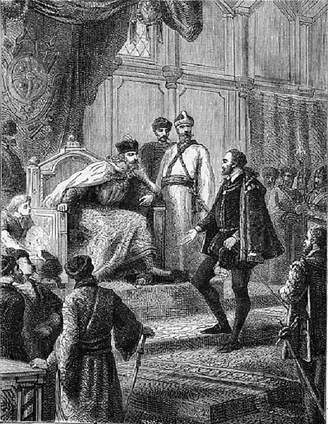 Ричард Ченслер на приёме у русского царя.