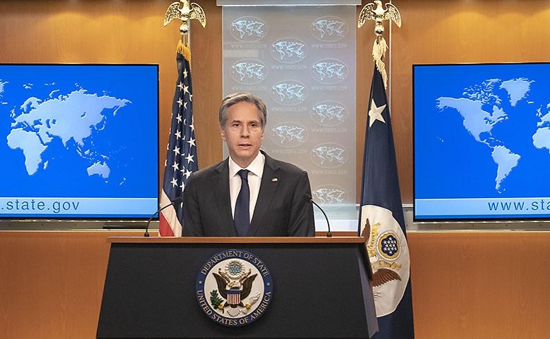 По словам государственного секретаря Энтони Блинкена, «если Иран не сойдёт с выбранной им тропы, то уже в течение нескольких ближайших недель он сможет создать своё ядерное оружие».