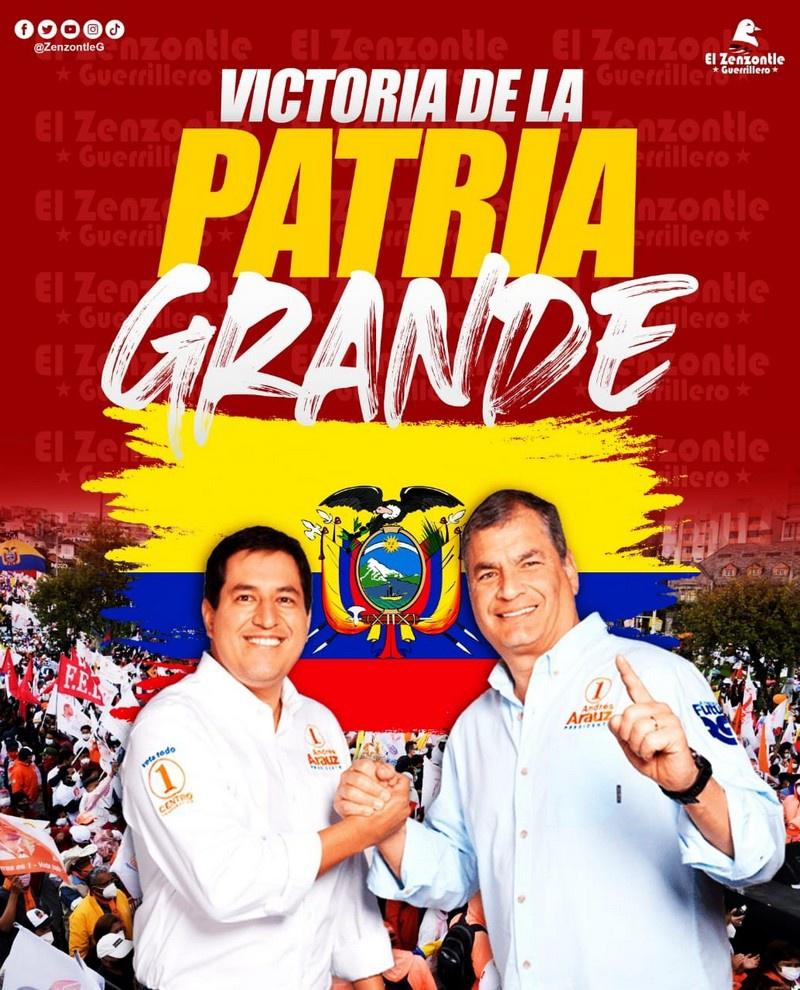 Андрес Араус и бывший президент Эквадора Рафаэль Корреа.
