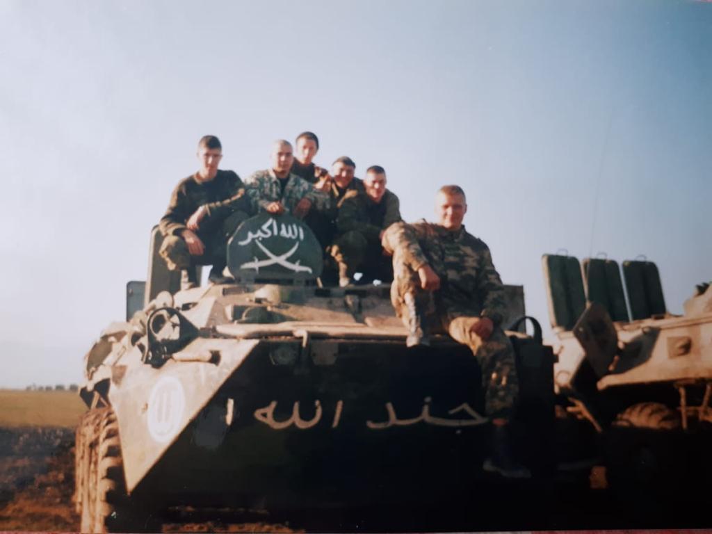 На чеченской войне.