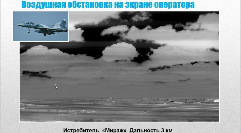 Воздушная обстановка на экране оператора.