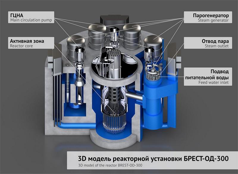Научно-исследовательский и конструкторский институт имени Доллежаля заявил о фактической готовности БРЕСТ-ОД-300.
