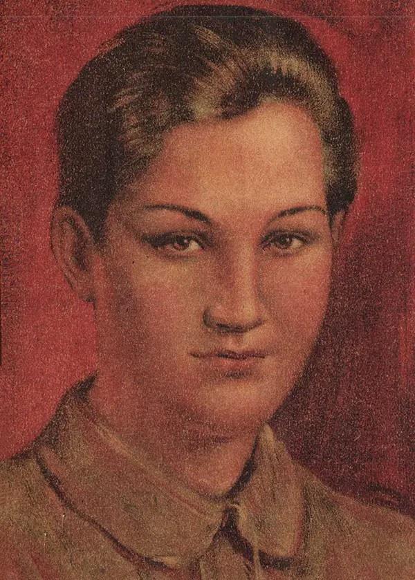 Портрет Зои Космодемьянской.