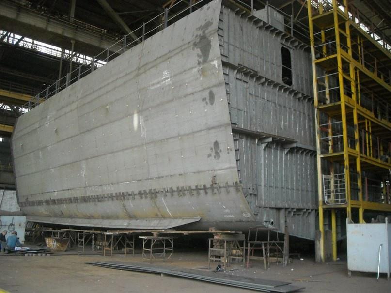 Готовая первая секция корвета проекта 58250.