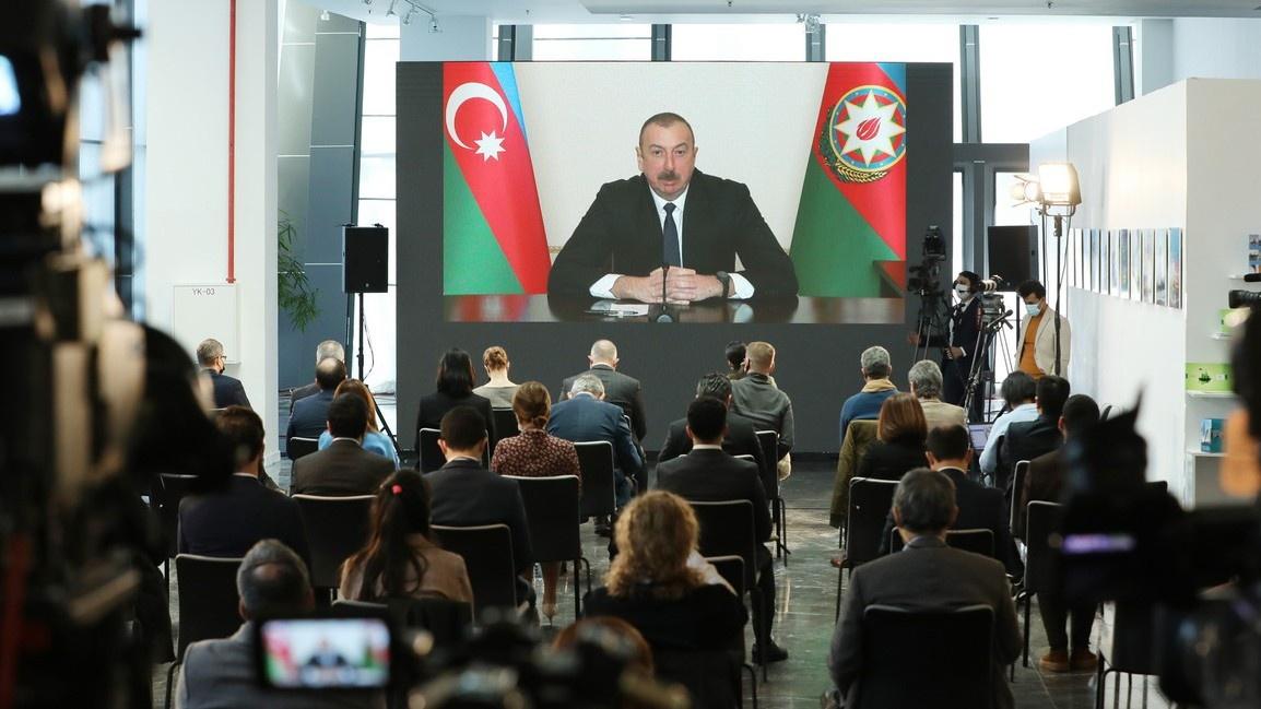 Президент Азербайджана Ильхам Алиев: «Наша политика однозначна и во время войны, и после войны: мы нацелены на мир»