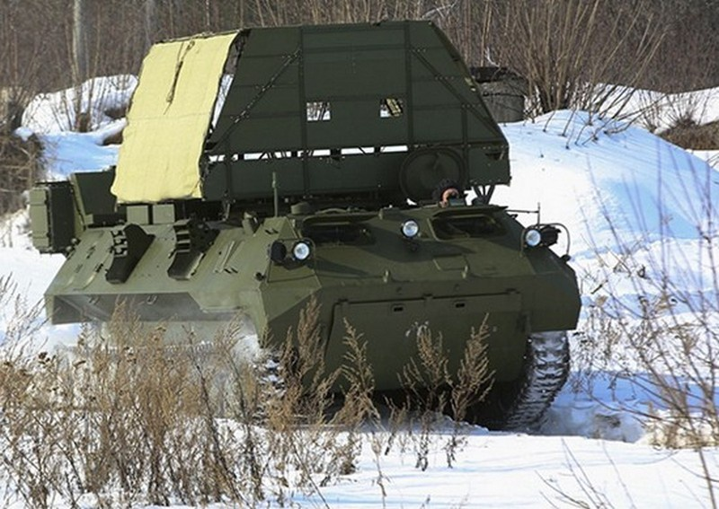 Устанавливаемый на боевые машины комплекс «Ртуть-БМ» способен защитить территорию площадью до 50 гектаров.
