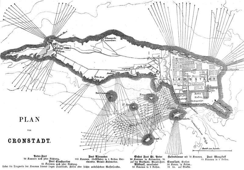 План крепости Кронштадт.