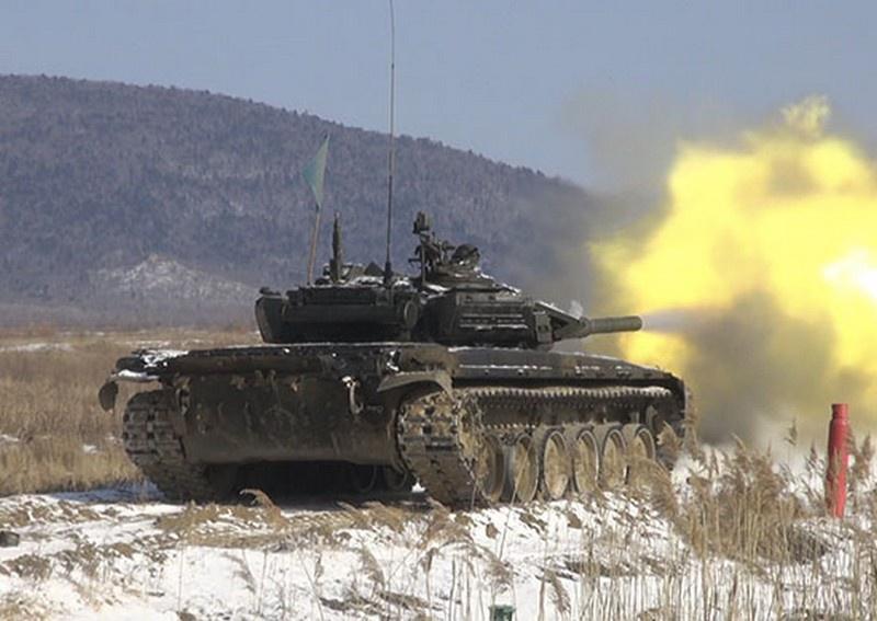 Камчатские танкисты стали победителями на флотском этапе конкурса «Танковый биатлон».
