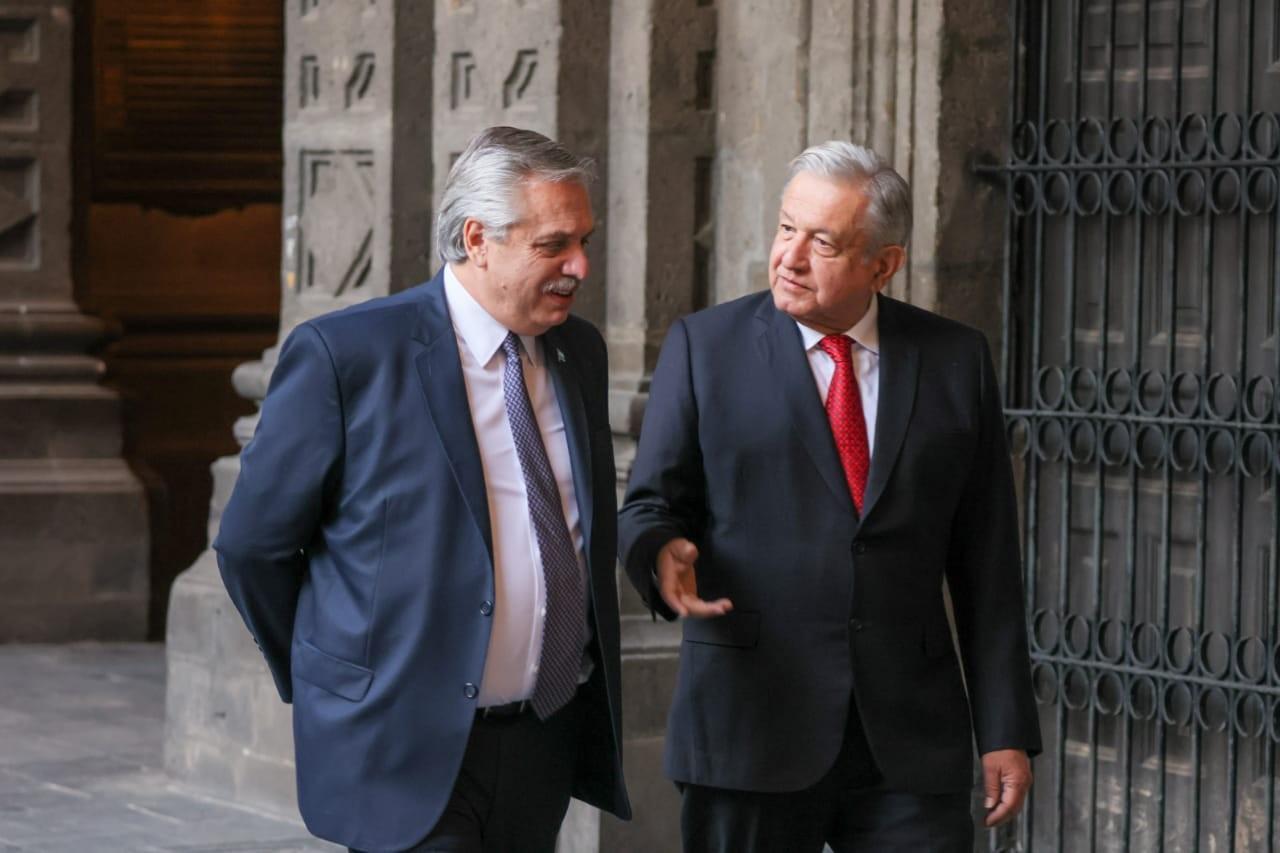 Официальный визит президента Аргентины Альберто Фернандеса в Мексику и переговоры с мексиканским коллегой Андресом Мануэлем Лопесом Обрадором. 23 февраля 2021 г.