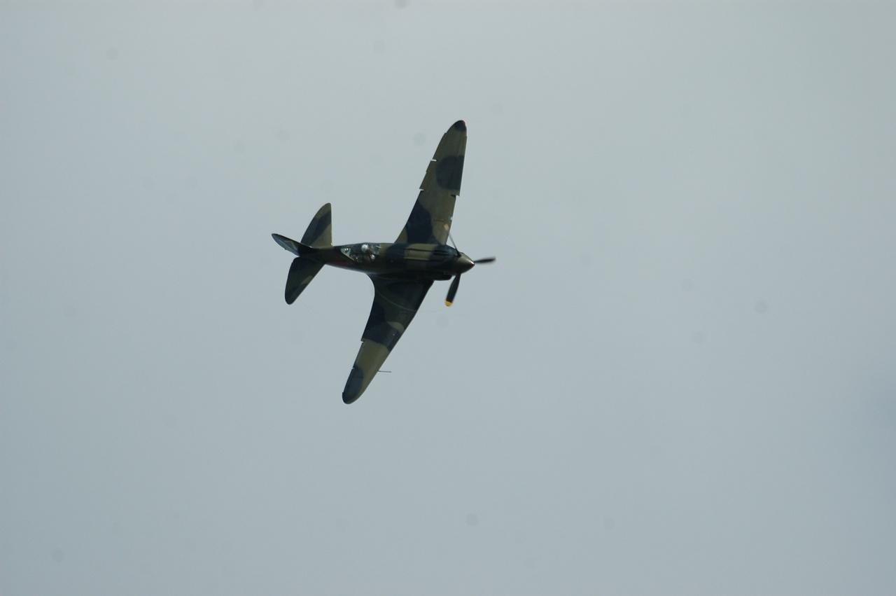 Реставрированный МиГ-3 в полёте.