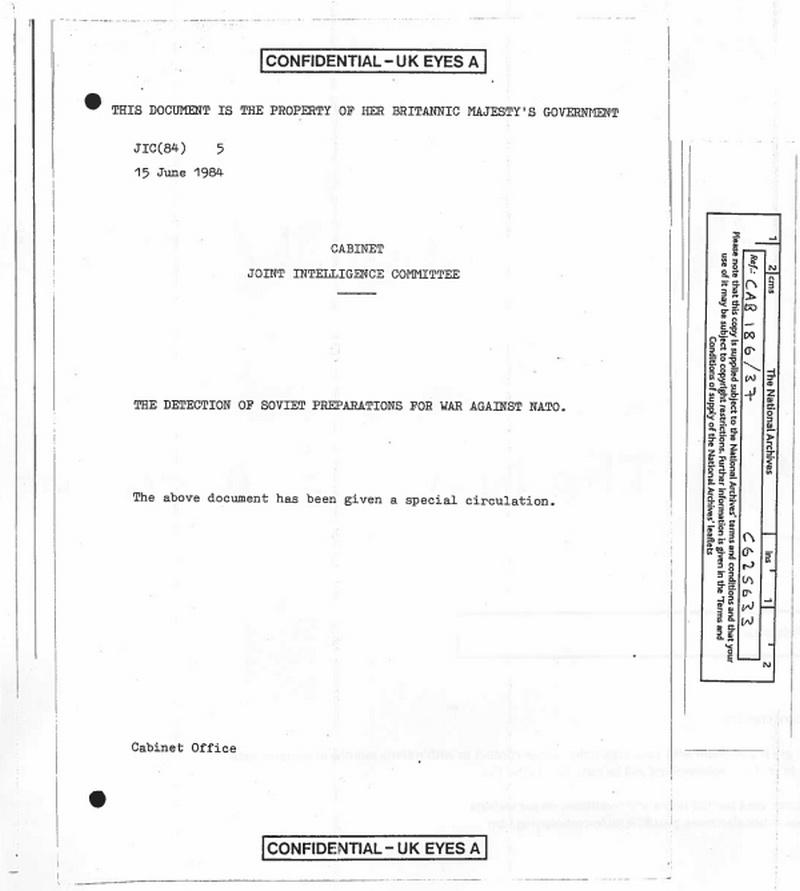 Доклад Британской разведки.
