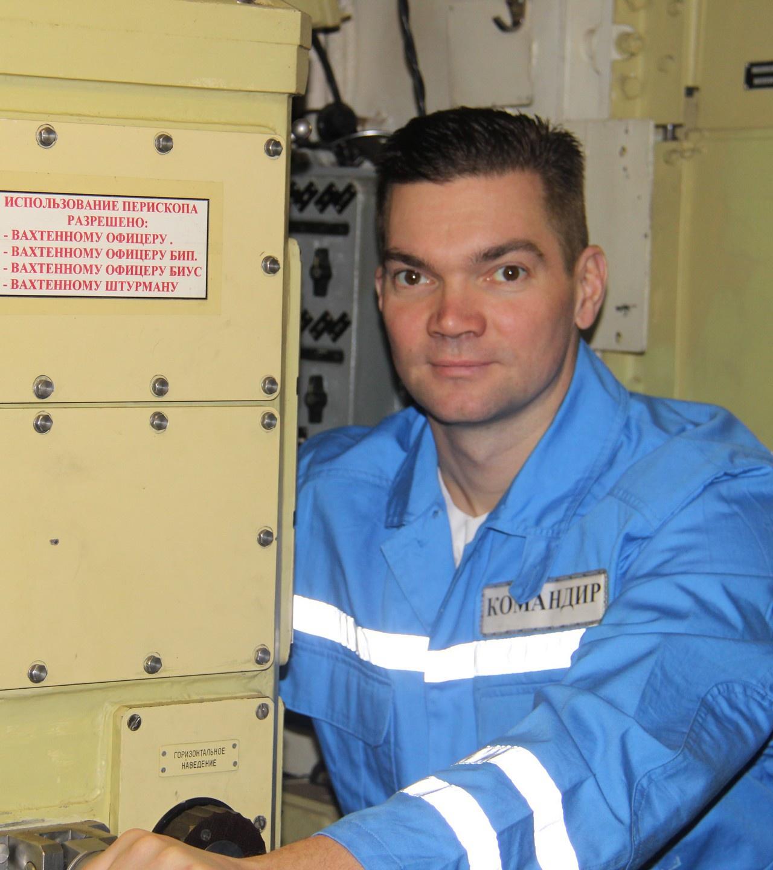 Командир атомной подводной лодки Северного флота капитан 1 ранга Дмитрий Маслов.