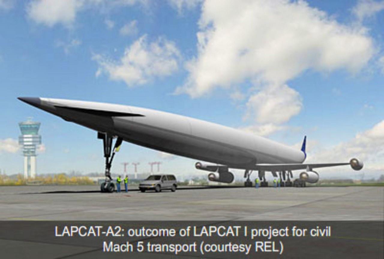 LAPCAT II - проект ЕС и Великобритании по разработке гражданского транспортного самолёта, способного лететь со скоростью до 5 чисел Маха с использованием гибридного турбореактивного двигателя.