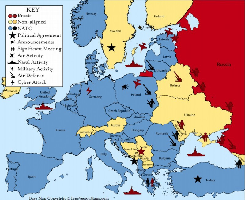 НАТО у границ России.