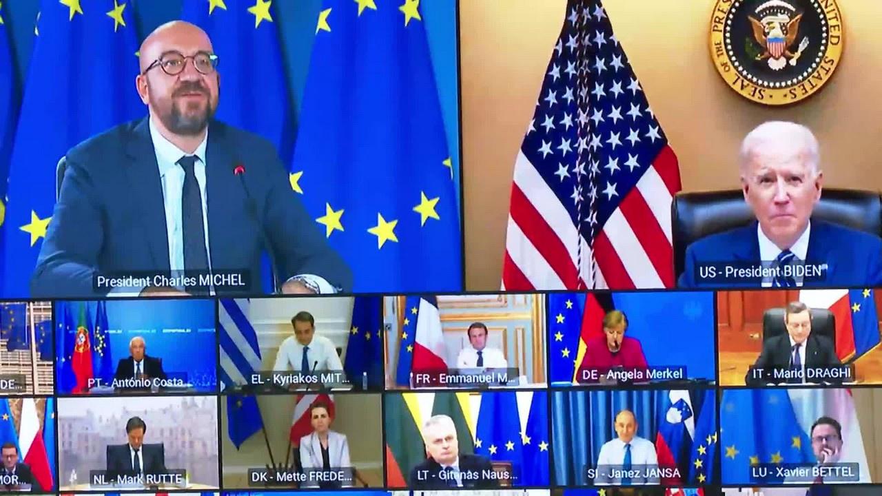 На онлайн-саммите Евросоюза 25-26 марта администрация Байдена одобрила только что введённые санкции ЕС в отношении КНР.