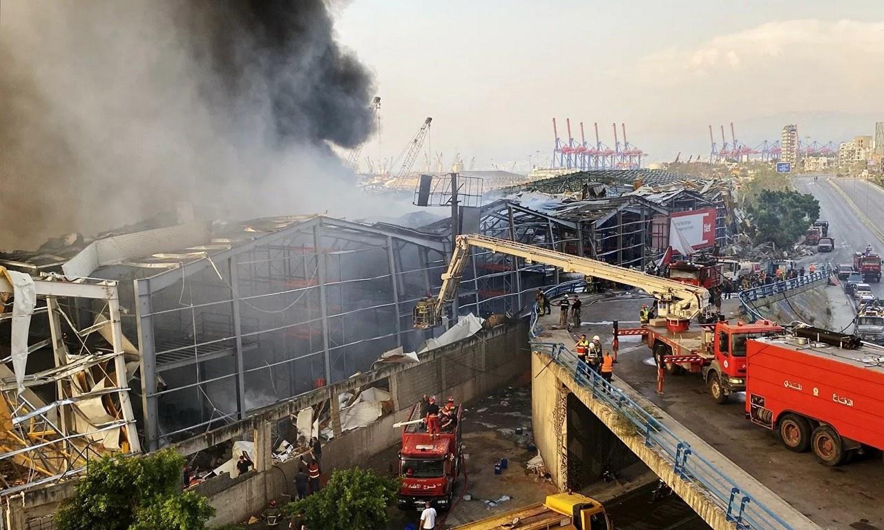 Взрыв в морском порту Бейрута 4 августа 2020 года.