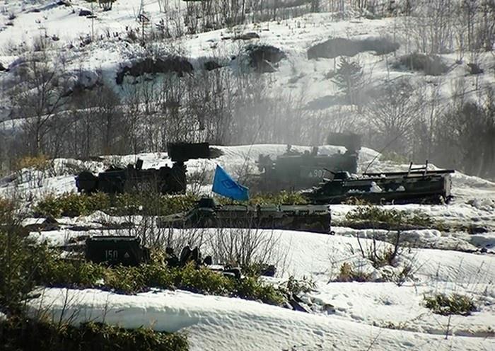 На Сахалине завершилось тактическое учение с военнослужащими ВВО на полигоне «Успеновский».