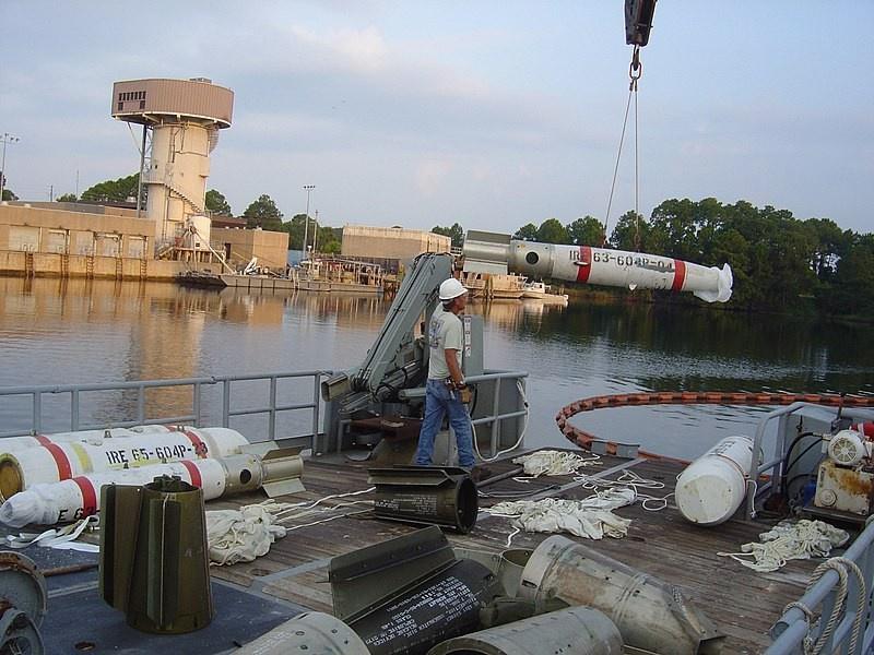 Управляемые донные неконтактные морские мины Mk 62 QuickStrike, которые могли быть использованы для разрушения газовых труб.