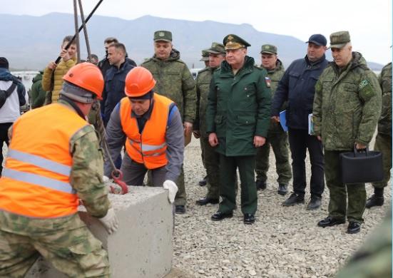 5 апреля в Нагорном Карабахе закончено строительство мобильных городков для российских миротворцев.