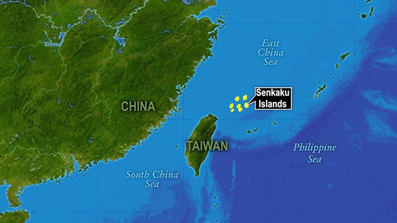 Острова Сенкаку (крупный план).