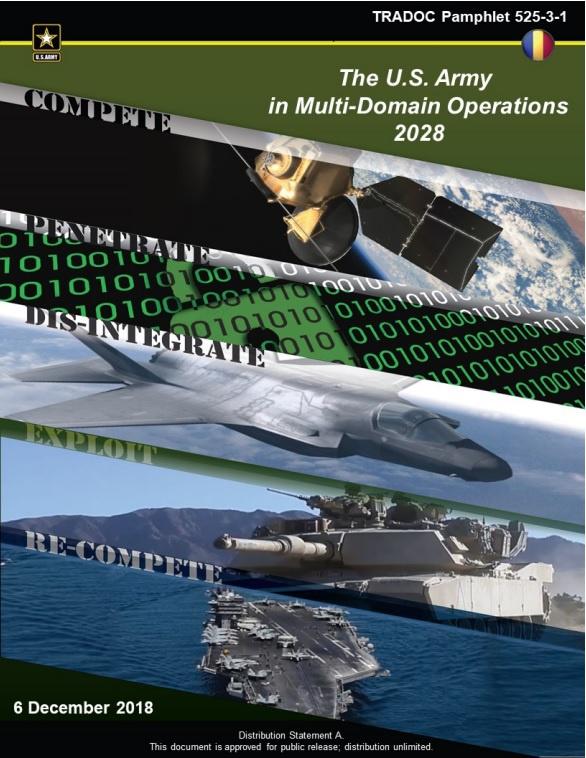 Специалисты из Сухопутных войск США в декабре 2018 года подготовили и опубликовали концепцию The U.S. Army in Multi-Domain Operations 2028 (MDO 2028).