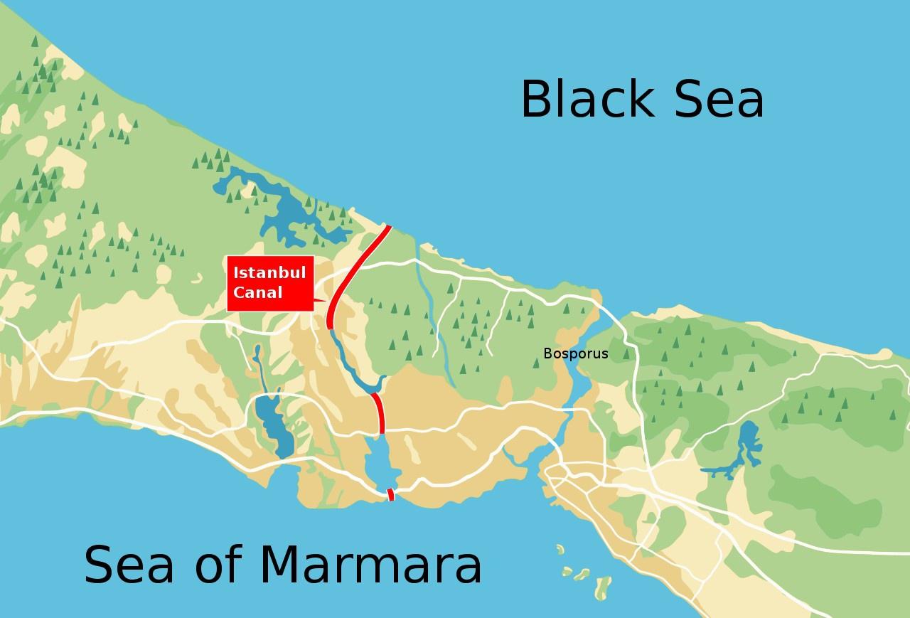 Проект «Стамбул» - проект судоходного канала, который соединит Чёрное и Мраморное моря в обход пролива Босфор.