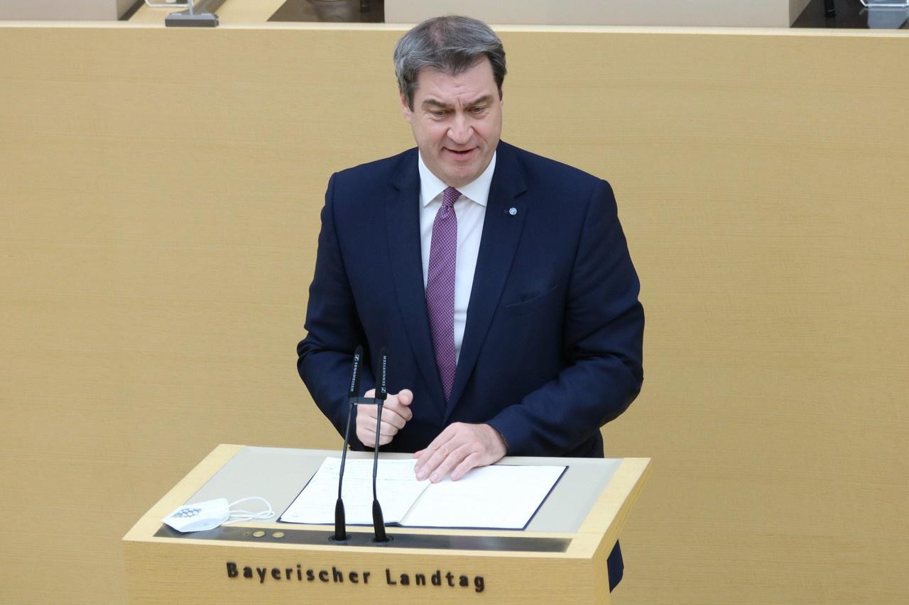 Премьер-министр Баварии, глава Христианско-социального союза (ХСС) Маркус Зёдер.
