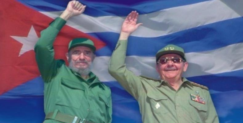 Фидель и Рауль Кастро.