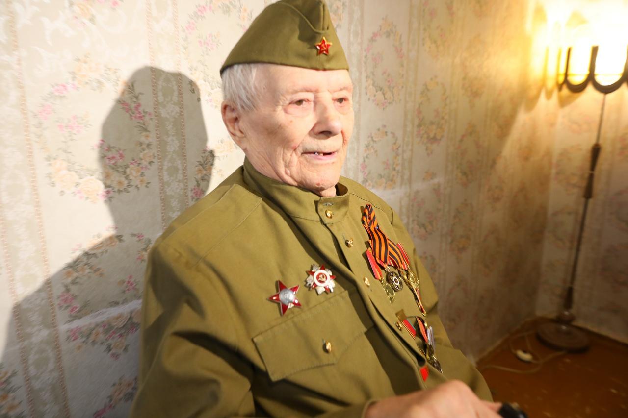 Фронтовик Андрей Григорьевич Чирец.