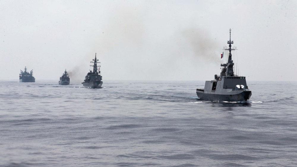 Параллельно с учениями ARC-21 боевые корабли трёх стран проведут совместные тренировки в Восточно-Китайском море.