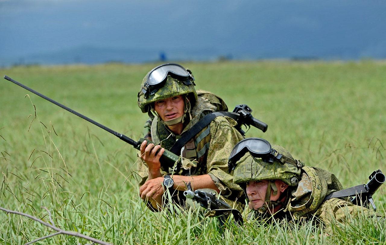 Бой ведёт высокомобильная пехота.
