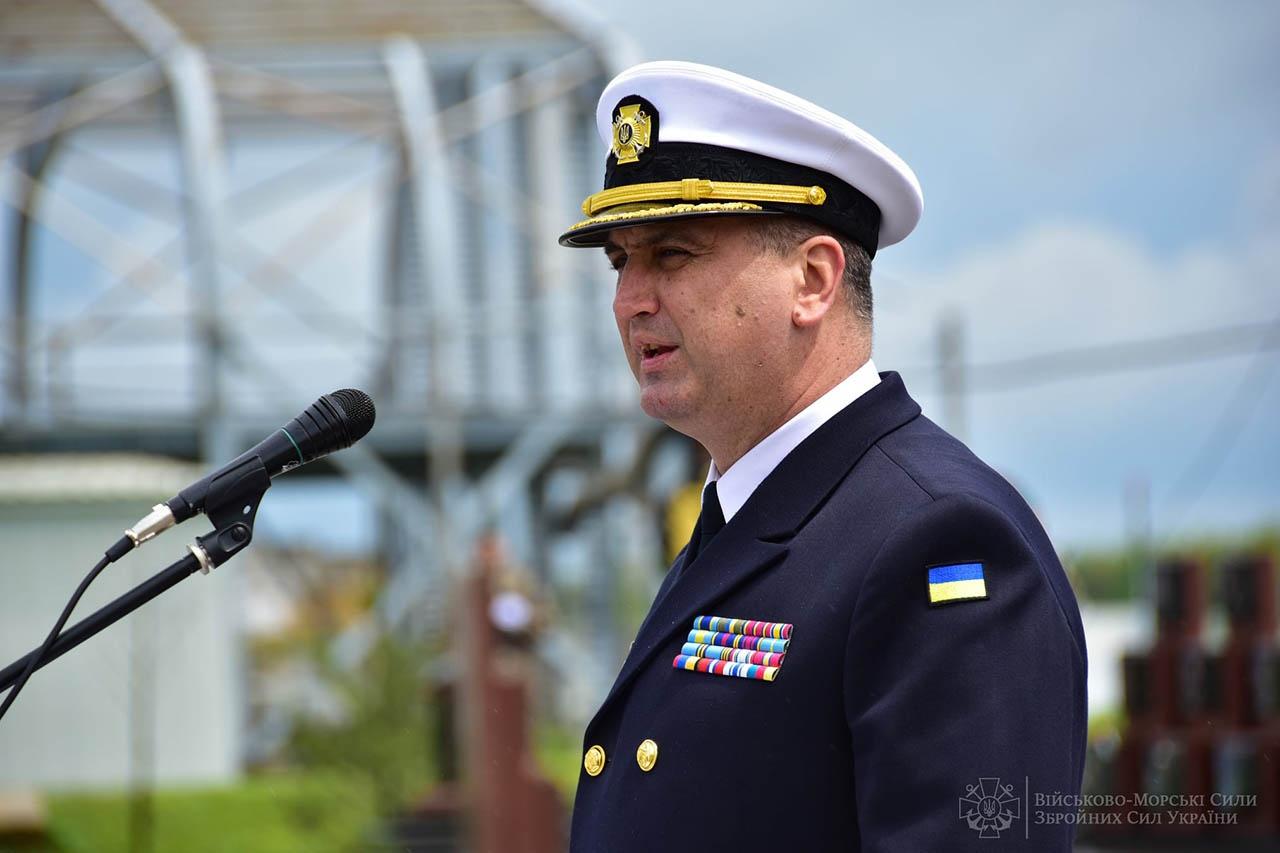 Командующий ВМС Украины контр-адмирал Алексей Неижпапа.