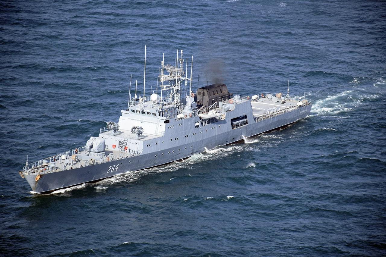 Румынский фрегат «Контр-адмирал Хория Макеллариу».