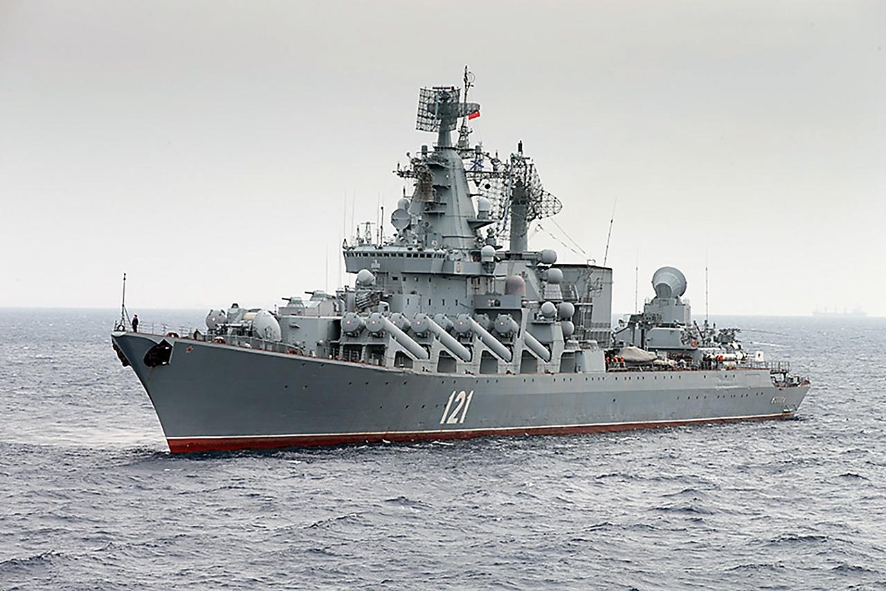 В Севастополе базируется ракетный крейсер «Москва».