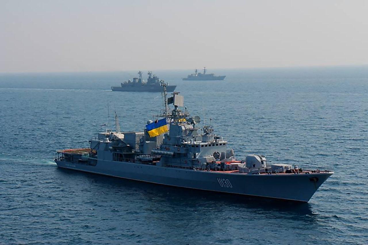 Фрегат ВМС Украины «Гетман Сагайдачный».