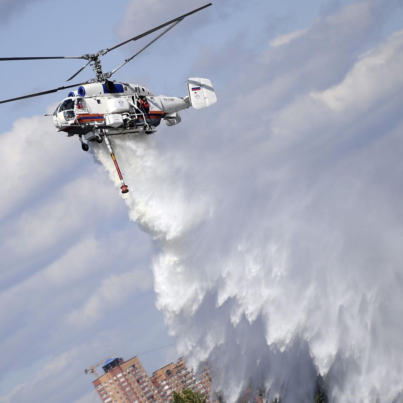 Ка-32А11М оснащён новыми мощными двигателями ВК‐2500ПС‐02 и уникальной системой пожаротушения СП‐32.