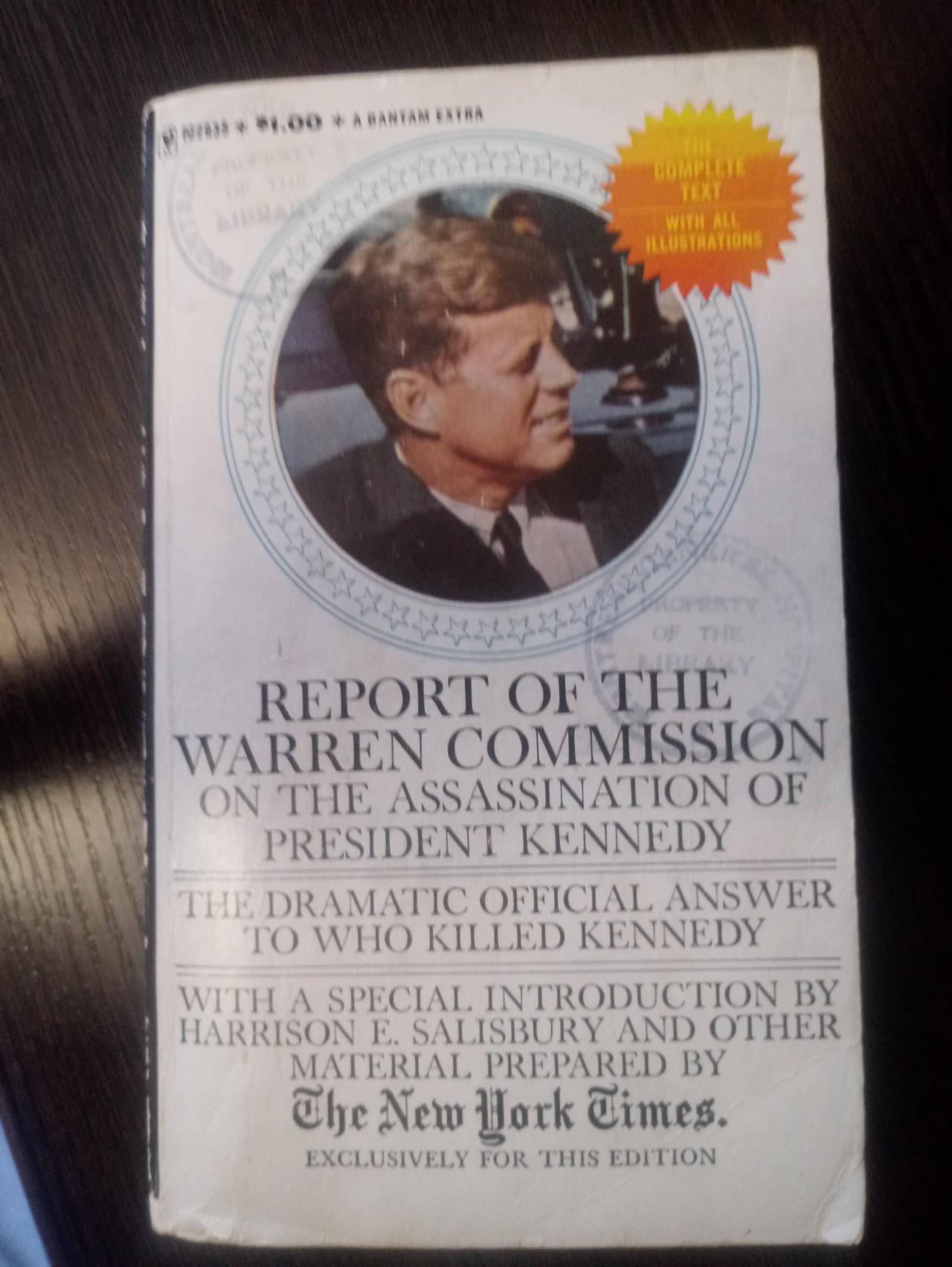 Обложка книги «Report of the Warren Commission».