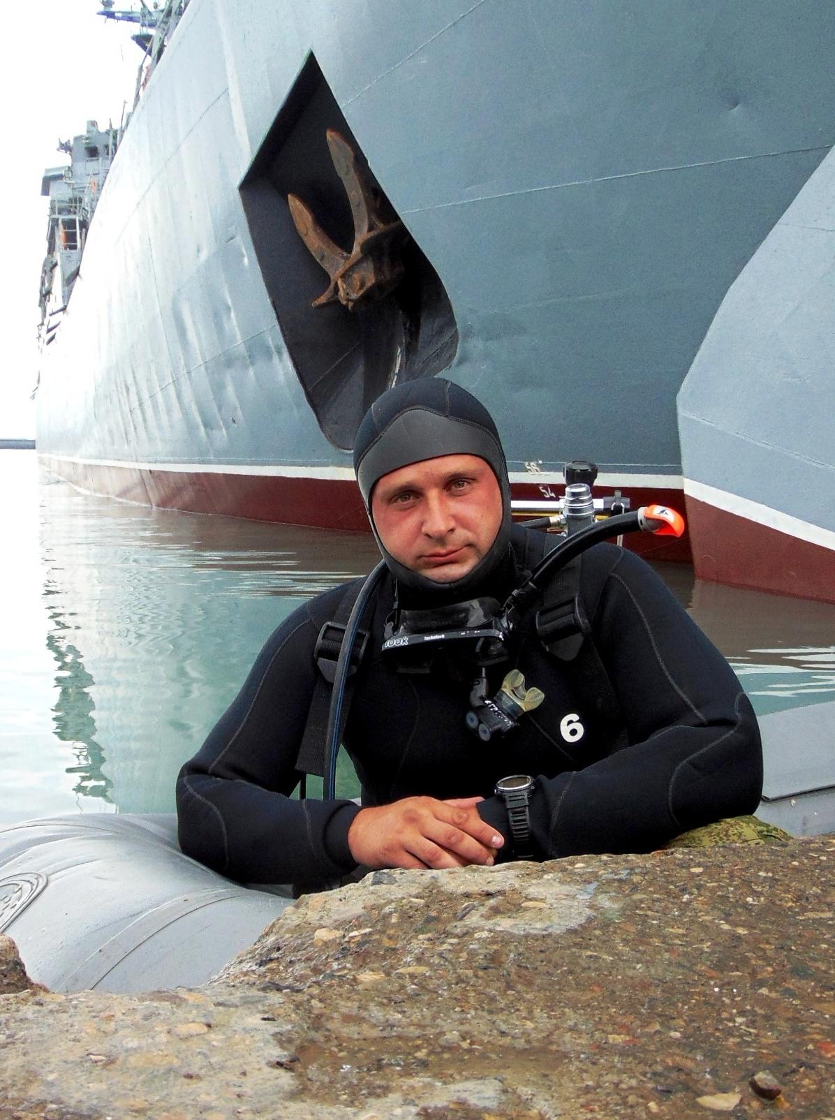 Командир спецподразделения боевых пловцов Сергей Скиба.