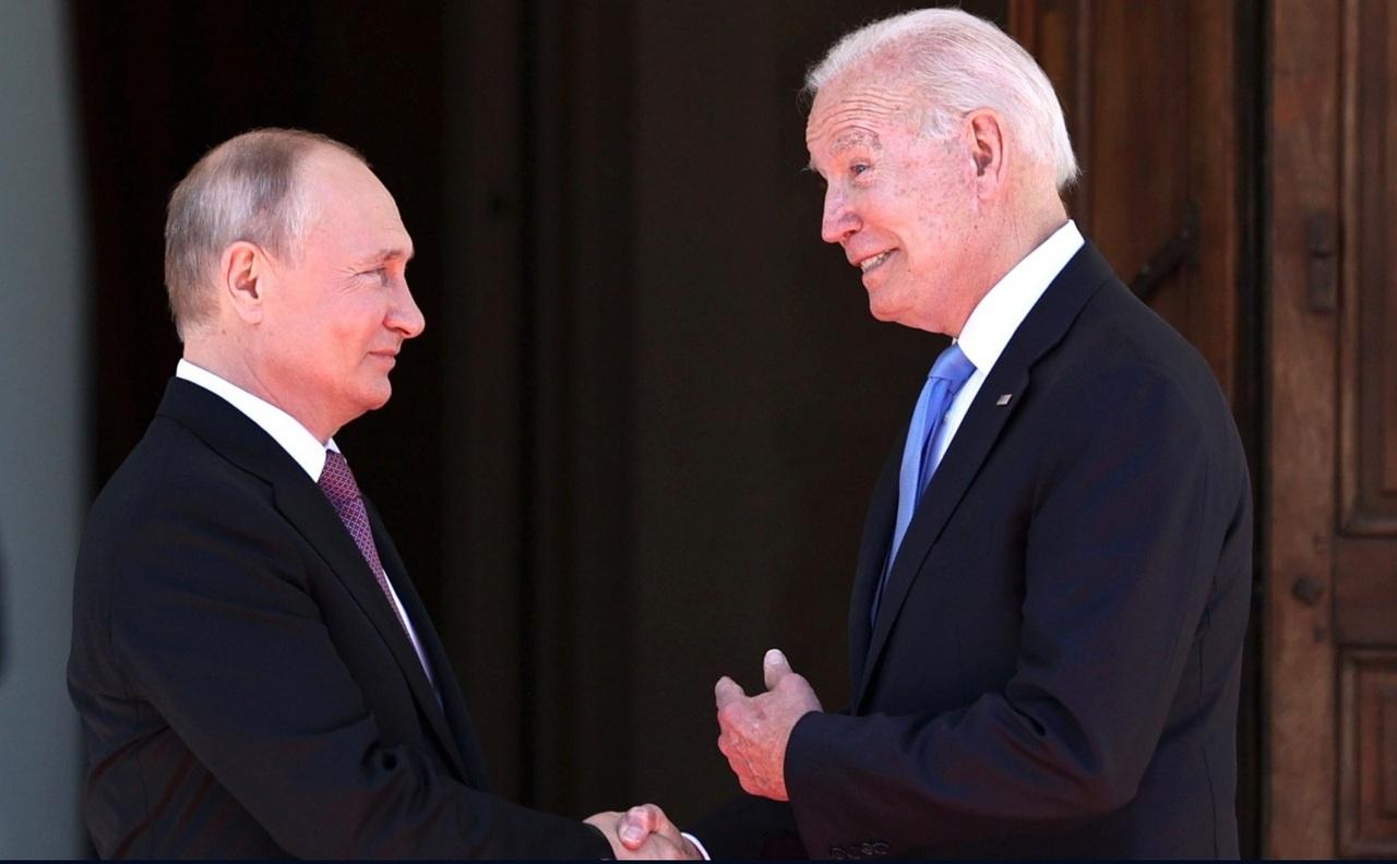 Российско-американские переговоры Владимира Путина с Джозефом Байденом вЖеневе, 16 июня 2021 года.