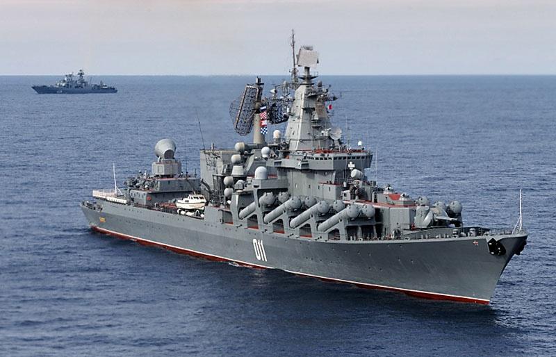 «Ракетный удар» был нанесён флагманом флота гвардейским ракетным крейсером «Варяг».