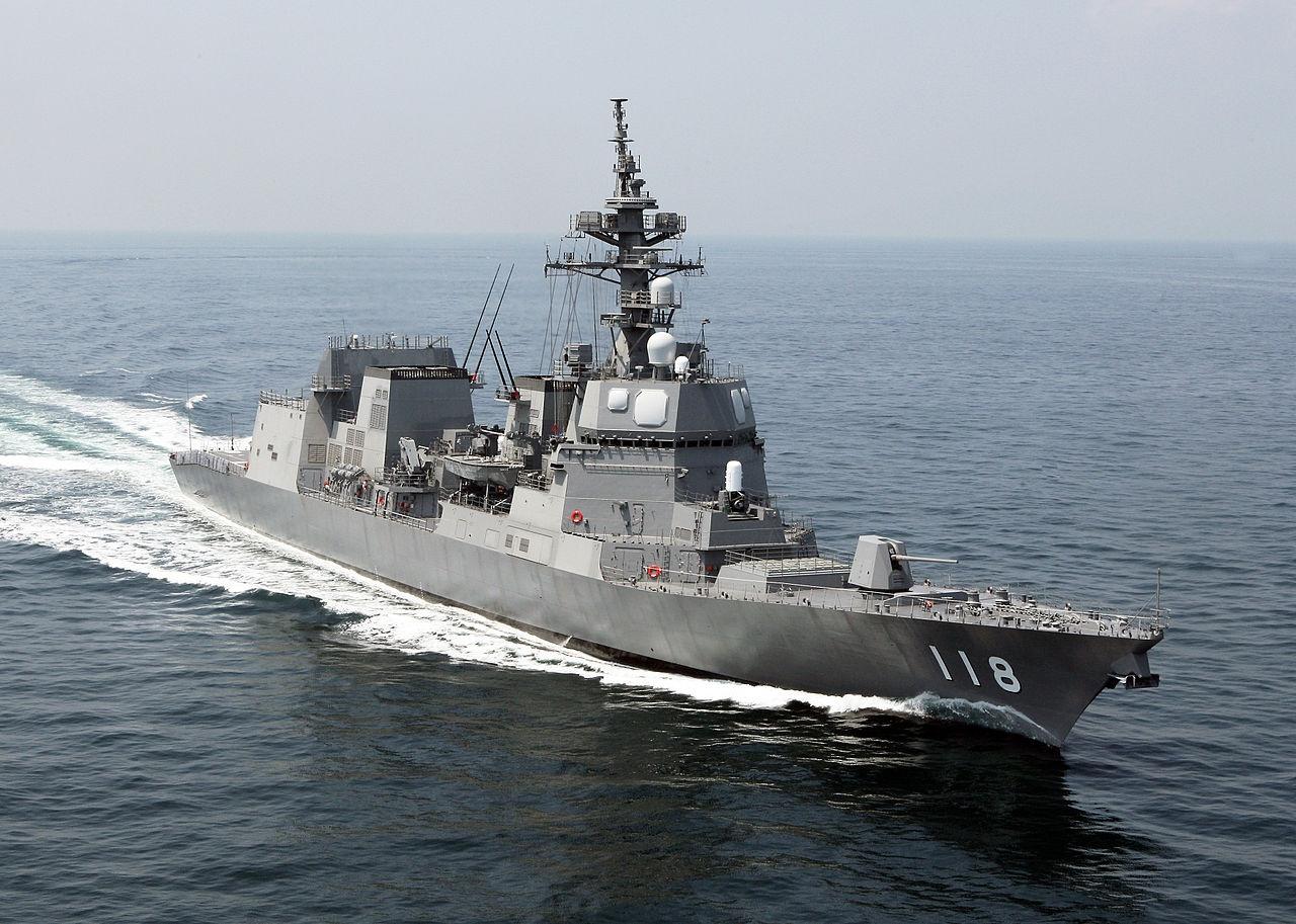 Fuyuzuki - современный японский эсминец типа «Акидзуки».