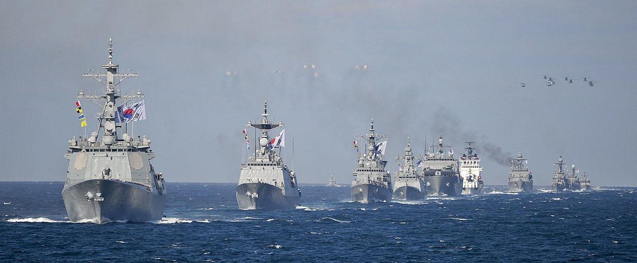Корабли ВМС Республики Корея в походе.