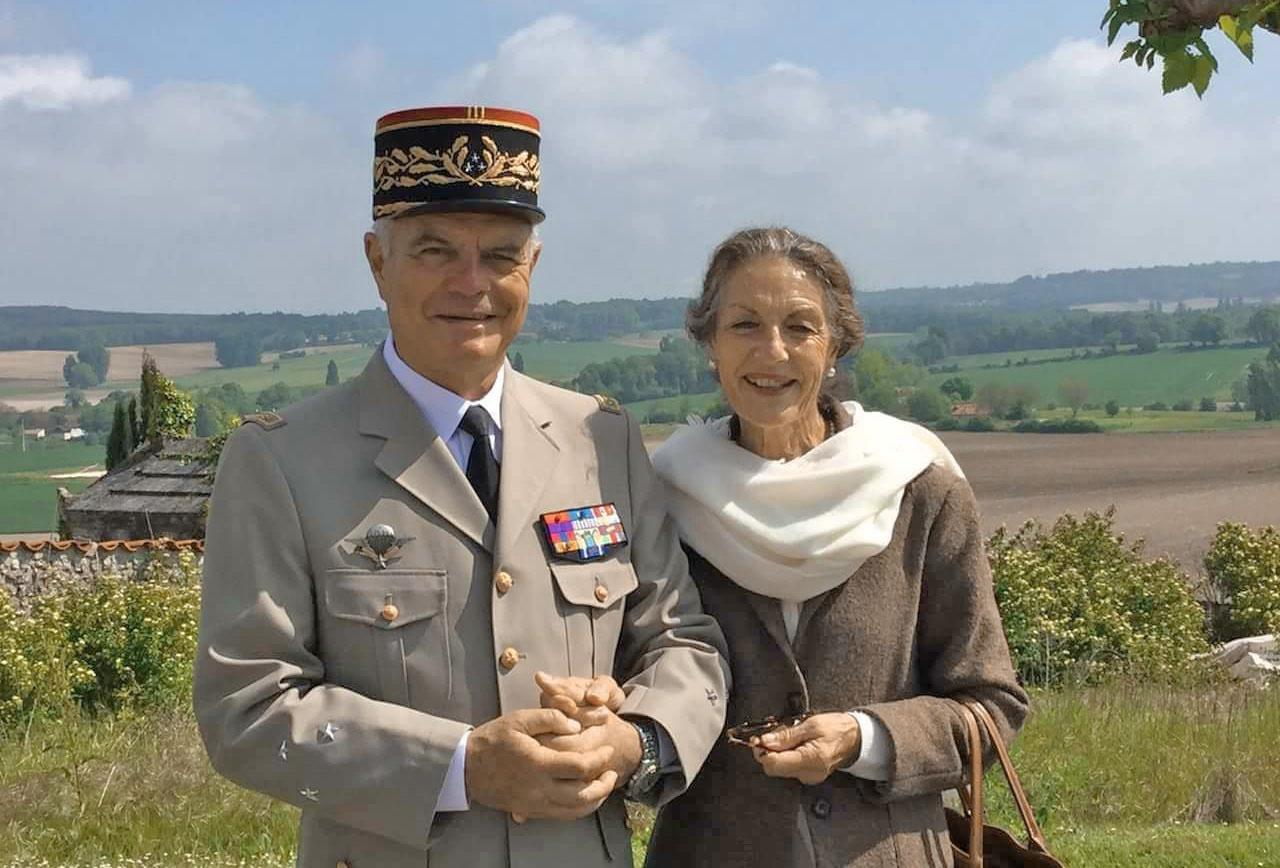 Дивизионный генерал Дидье Тозен с женой Бриджиттой.