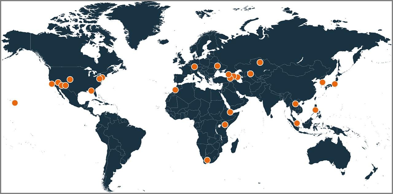 Американские биолаборатории DTRA расположены в 27 странах, включая сопредельные с Китаем и Россией Украину, Грузию, Таджикистан, Армению, Азербайджан, Молдавию и Казахстан.