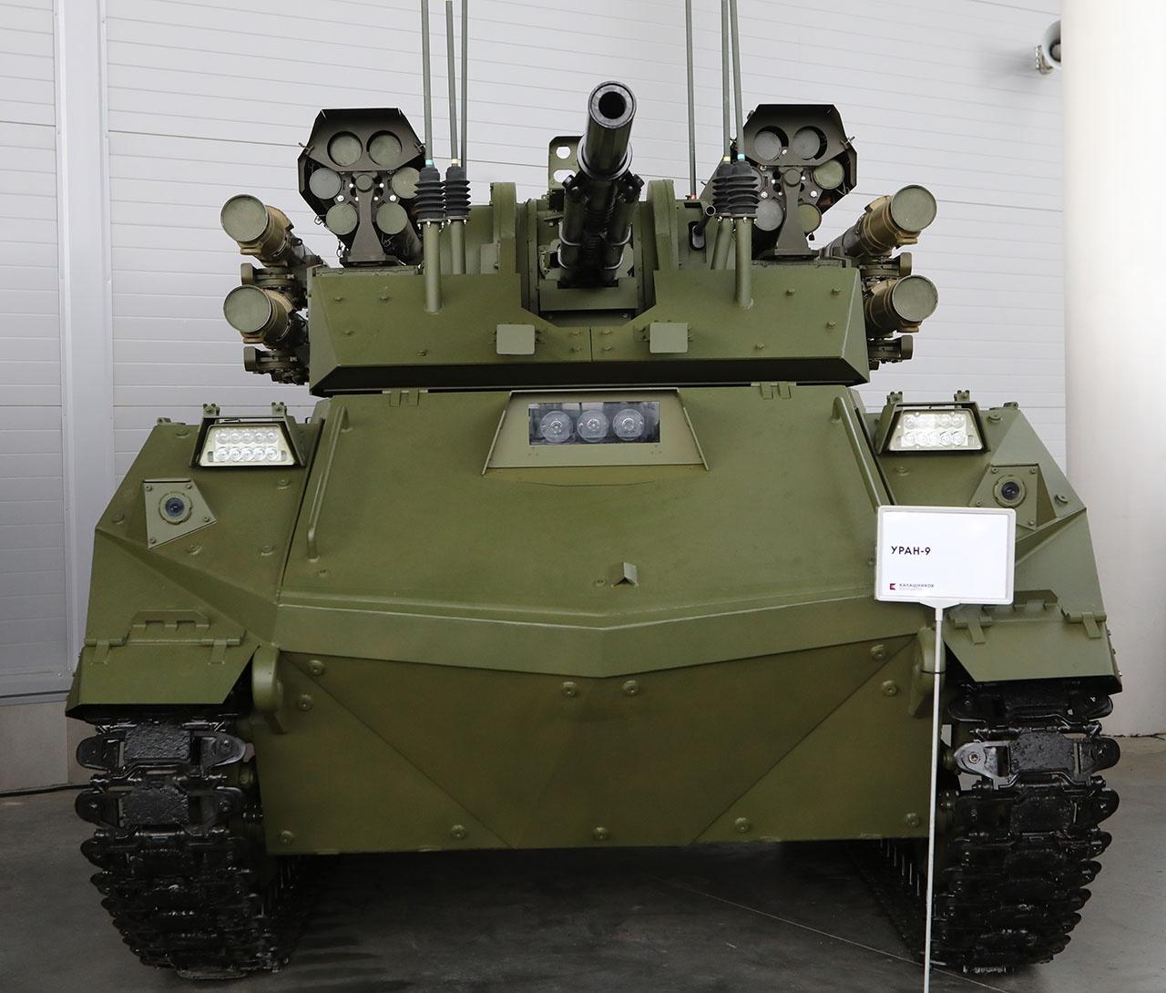 Передовая российская разработка - боевой многофункциональный робототехнический комплекс «Уран-9».