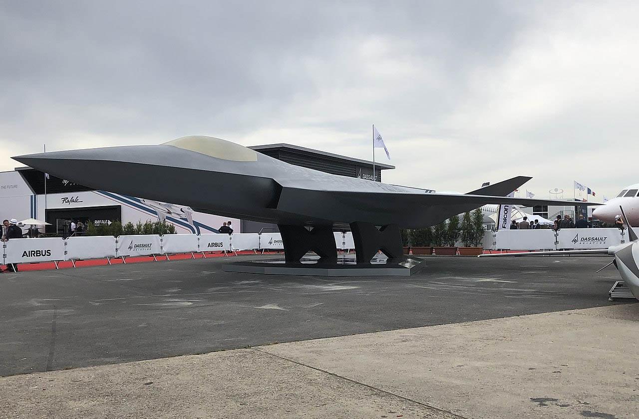 Макет истребителя проекта FCAS на Парижском авиасалоне 2019.