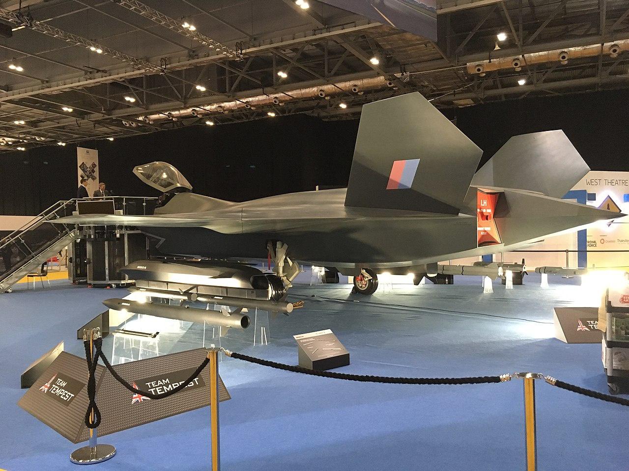 Макет истребителя проекта Tempest на выставке вооружения DSEI 2019.