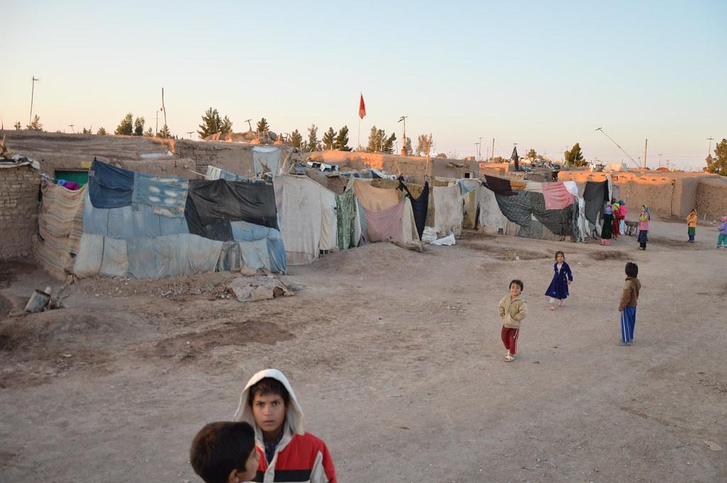 Лагерь афганских беженцев в Иране.